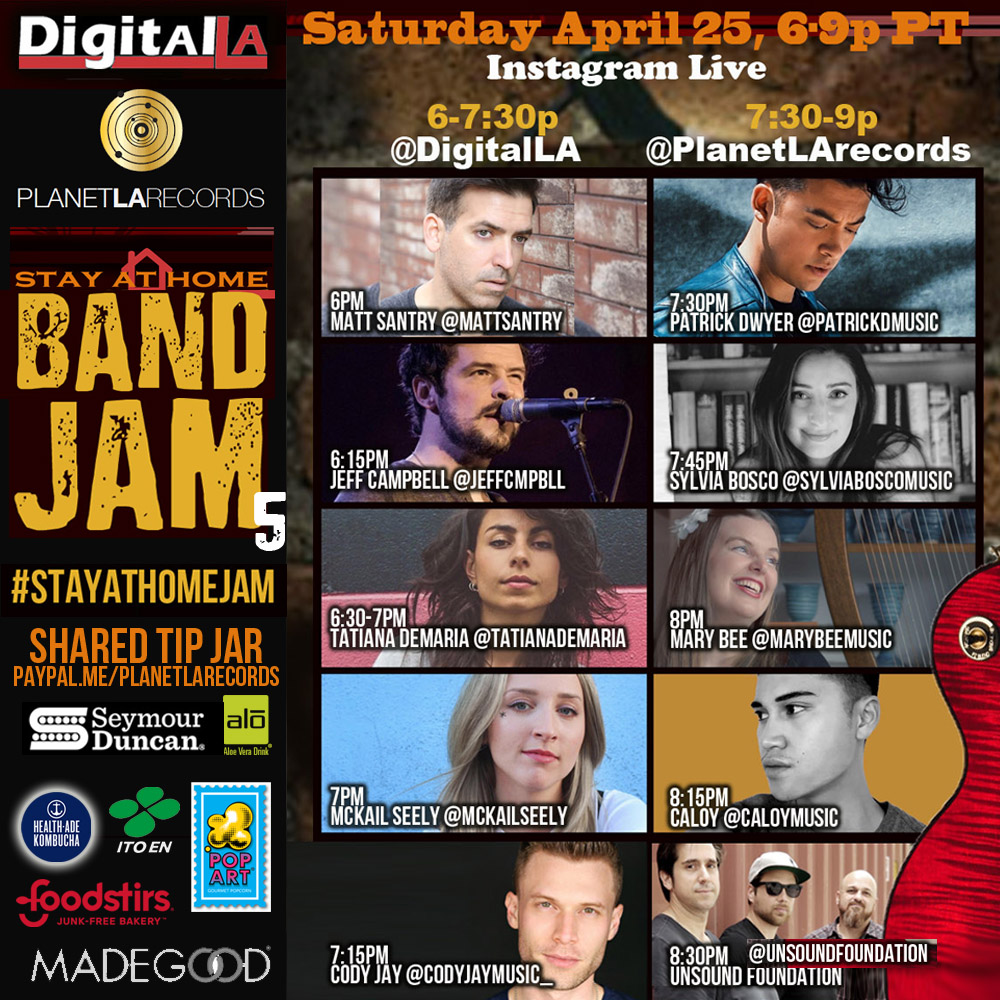 Digital LA and Planet LA Records' StayAtHome Band Jam 5 with Unsound Foundation - 25 April 2020 6pm